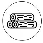 Símbolo del anclaje a madera